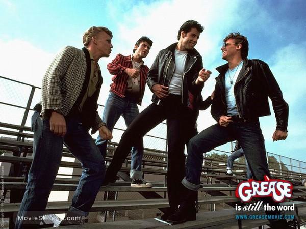 Grease - Lobby card with John Travolta, Barry Pearl, Kelly Ward & Jeff Conaway
