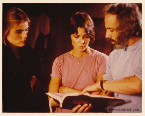 Personal Best - Behind the scenes photo of Mariel Hemingway, Patrice Donnelly & Robert Towne