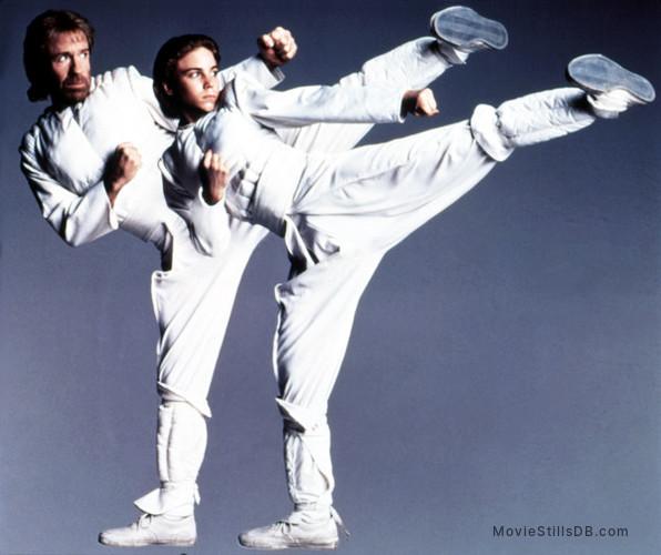 Sidekicks - Promo shot of Jonathan Brandis & Chuck Norris