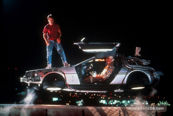 Back to the Future Part II - Publicity still of Michael J. Fox & Christopher Lloyd