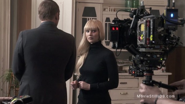 Red Sparrow - Behind the scenes photo of Jennifer Lawrence