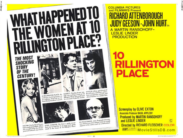 10 Rillington Place - Lobby card
