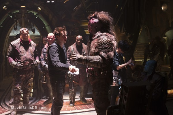 Guardians of the Galaxy Vol. 2 - Behind the scenes photo of James Gunn & Chris Sullivan