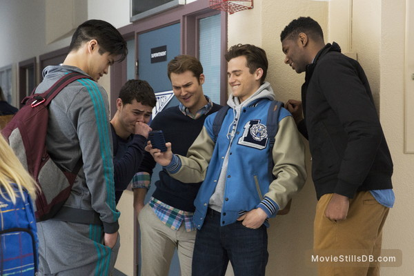 13 Reasons Why - Publicity still of Ross Butler, Justin Prentice, Brandon Flynn & Christian Navarro