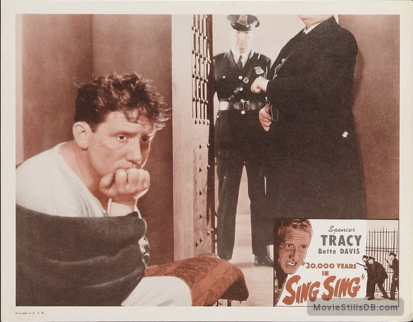 20,000 Years in Sing Sing - Lobby card with Spencer Tracy