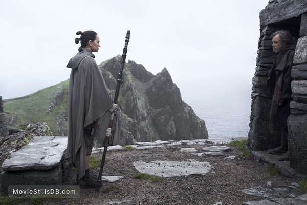 Star Wars: The Last Jedi - Publicity still of Mark Hamill & Daisy Ridley