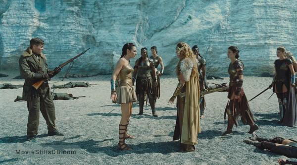 Wonder Woman - Publicity still of Gal Gadot, Chris Pine & Connie Nielsen