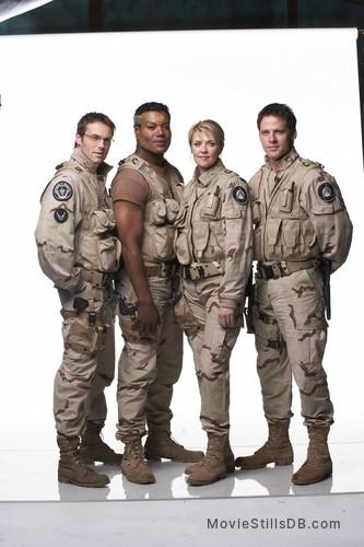 Stargate: The Ark of Truth - Promo shot of Christopher Judge, Michael Shanks, Amanda Tapping & Ben Browder