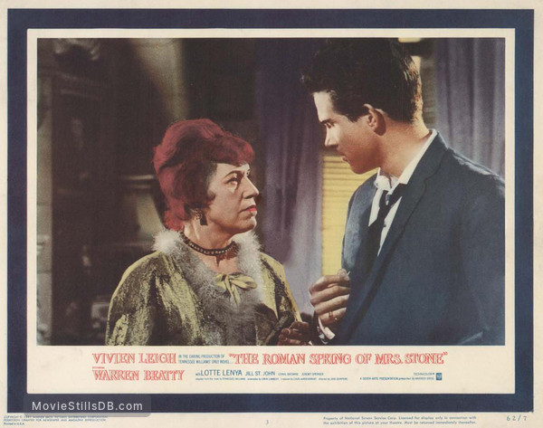 The Roman Spring of Mrs. Stone - Lobby card with Warren Beatty