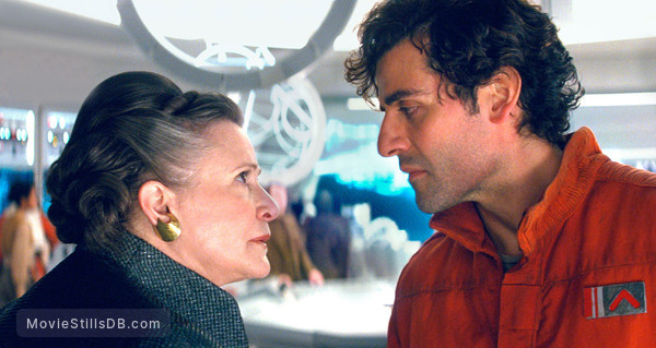 Star Wars: The Last Jedi - Publicity still of Carrie Fisher & Oscar Isaac