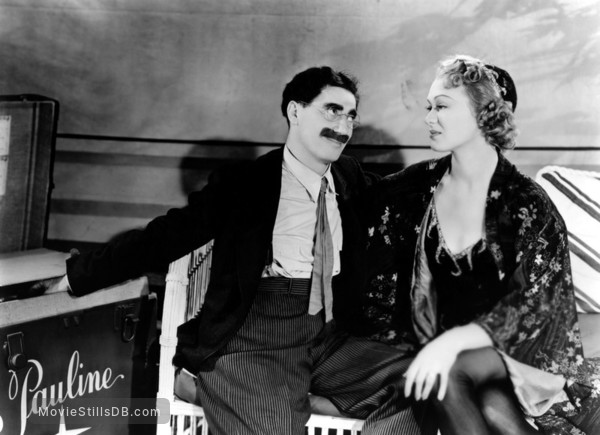 At the Circus - Publicity still of Eve Arden & Groucho Marx