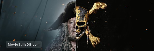 Pirates of the Caribbean: Dead Men Tell No Tales - Promotional art with Geoffrey Rush