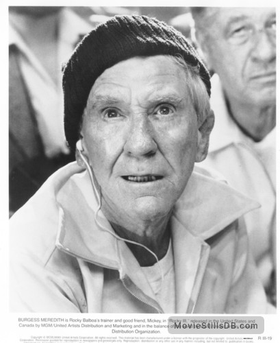 Rocky III - Publicity still of Burgess Meredith