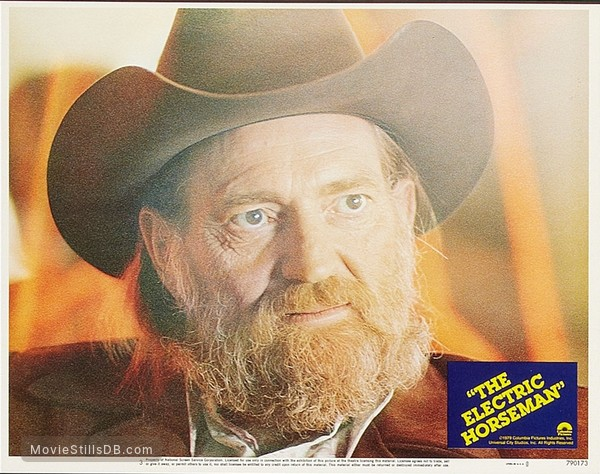 The Electric Horseman - Lobby card with Willie Nelson