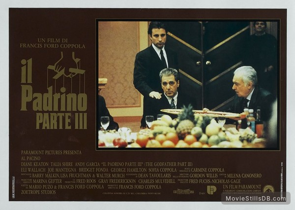 The Godfather: Part III - Lobby card with Al Pacino & Andy García