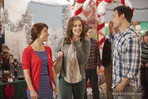 A Cookie Cutter Christmas - Publicity still of Erin Krakow & David Haydn-jones