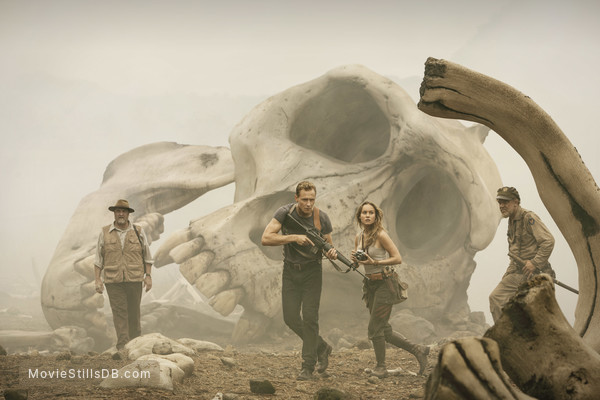 Kong: Skull Island - Publicity still of Tom Hiddleston, Brie Larson & John Goodman