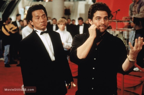 Rush Hour - Behind the scenes photo of Jackie Chan & Brett Ratner