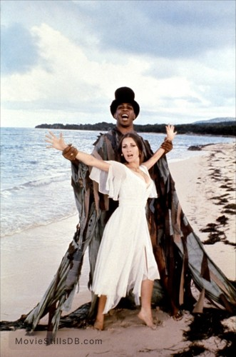 Live And Let Die - Promo shot of Jane Seymour & Geoffrey Holder
