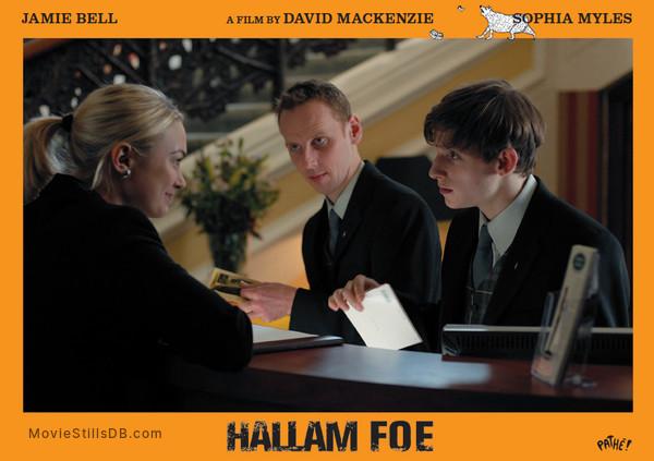 Hallam Foe - Lobby card with Jamie Bell, Sophia Myles & Ewen Bremner
