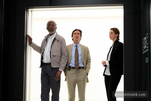 Transcendence - Publicity still of Rebecca Hall, Cillian Murphy & Morgan Freeman