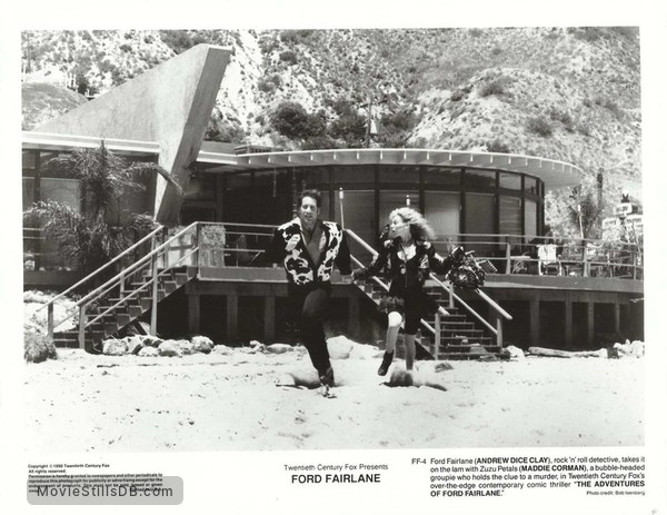 The Adventures of Ford Fairlane - Lobby card with Andrew Dice Clay & Maddie Corman