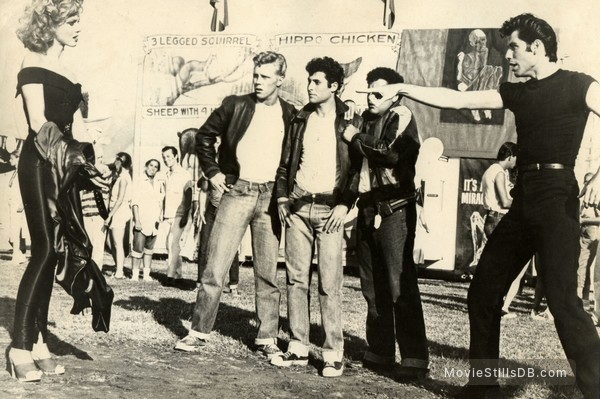 Grease - Publicity still of Olivia Newton-John, John Travolta, Barry Pearl, Michael Tucci & Kelly Ward