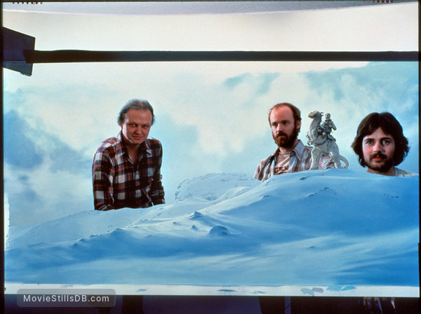 Star Wars: Episode V - The Empire Strikes Back - Behind the scenes photo of Phil Tippett, Dennis Muren & Michael Pangrazio