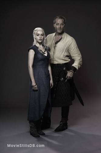 Game of Thrones - Promo shot of Emilia Clarke & Iain Glen