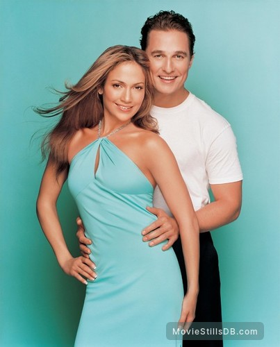 The Wedding Planner - Promo shot of Matthew McConaughey & Jennifer Lopez