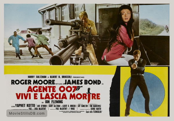 Live And Let Die - Lobby card with Roger Moore & Jane Seymour