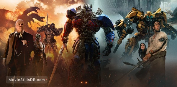 Transformers: The Last Knight - Promotional art with Mark Wahlberg, Anthony Hopkins & Isabela Moner