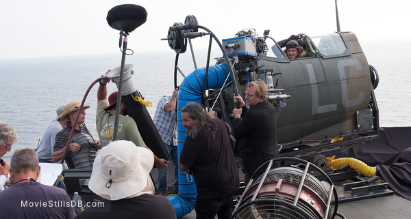 Dunkirk - Behind the scenes photo of Hoyte van Hoytema, Christopher Nolan & Tom Hardy