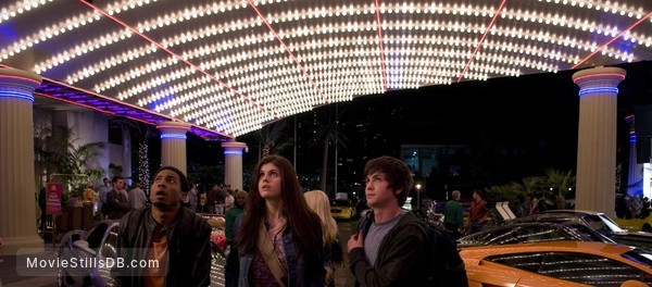 Percy Jackson & the Olympians: The Lightning Thief - Publicity still of Logan Lerman, Brandon T. Jackson & Alexandra Daddario