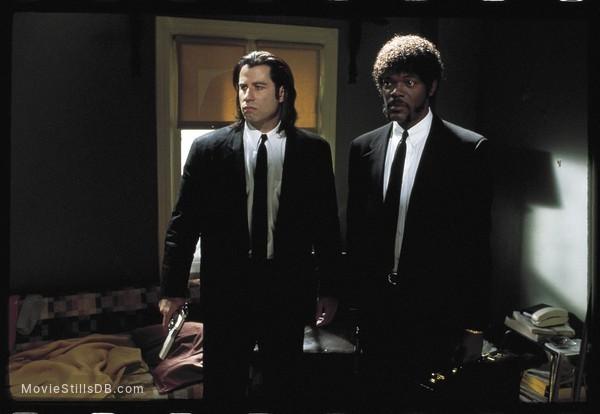 Pulp Fiction - Publicity still of John Travolta & Samuel L. Jackson