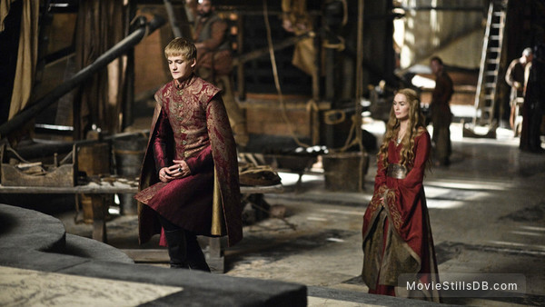 Game of Thrones - Publicity still of Jack Gleeson & Lena Headey