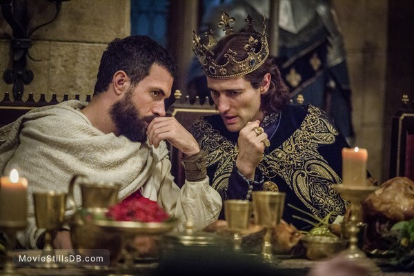 Knightfall - Publicity still of Tom Cullen & Ed Stoppard