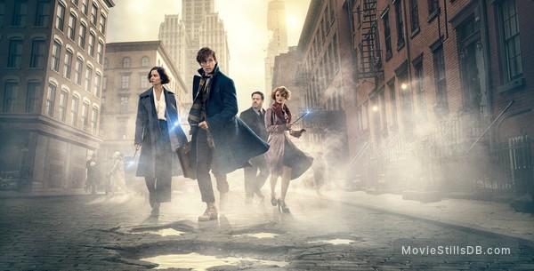 Fantastic Beasts and Where to Find Them - Promotional art with Dan Fogler, Katherine Waterston, Eddie Redmayne & Alison Sudol