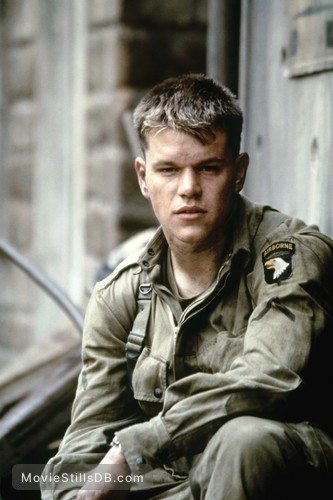 Saving Private Ryan - Publicity still of Matt Damon