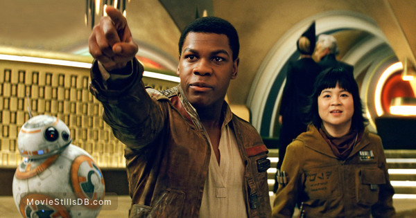 Star Wars: The Last Jedi - Publicity still of John Boyega & Kelly Marie Tran