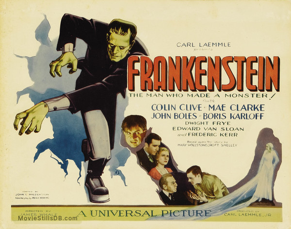 Frankenstein - Lobby card with Boris Karloff