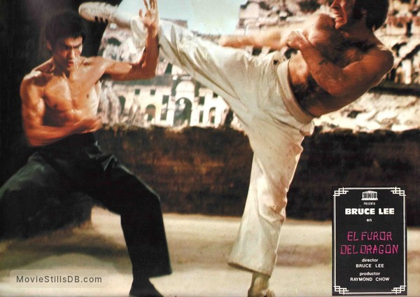 Return of the dragon lobby card with bruce lee chuck norris thecheapjerseys Images