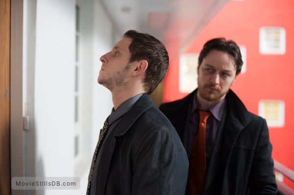 Filth - Publicity still of Jamie Bell & James McAvoy