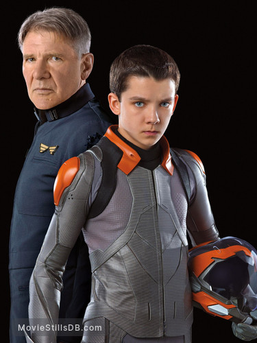 Ender's Game - Promo shot of Harrison Ford & Asa Butterfield