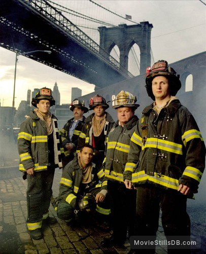 Rescue Me - Promo shot of Daniel Sunjata, Michael Lombardi, Steven Pasquale, John Scurti & Jack McGee