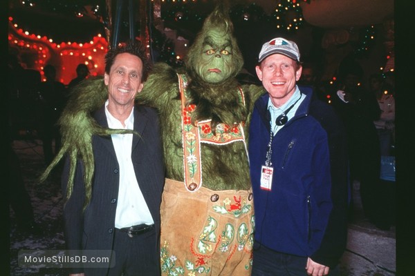 how the grinch stole christmas behind the scenes photo of jim carrey ron howard - How The Grinch Stole Christmas Jim Carrey