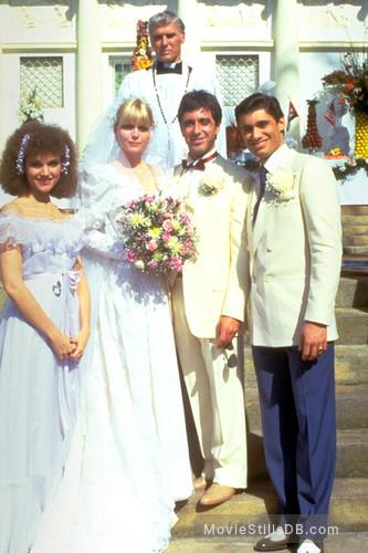 Scarface - Publicity still of Al Pacino, Michelle Pfeiffer, Mary Elizabeth Mastrantonio, Steven Bauer & Michael Rougas