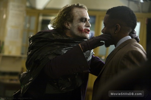 The Dark Knight - Publicity still of Heath Ledger & Michael Jai White