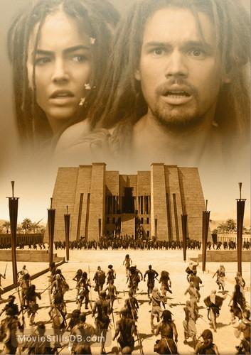10,000 BC - Promotional art with Steven Strait & Camilla Belle