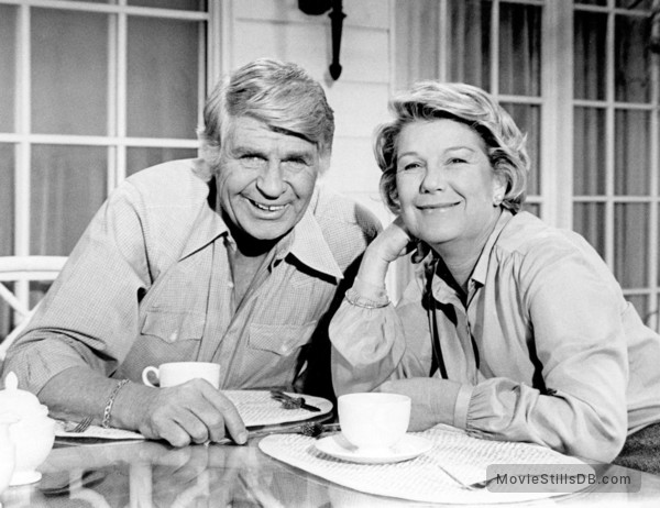 Dallas - Promo shot of Barbara Bel Geddes & Jim Davis